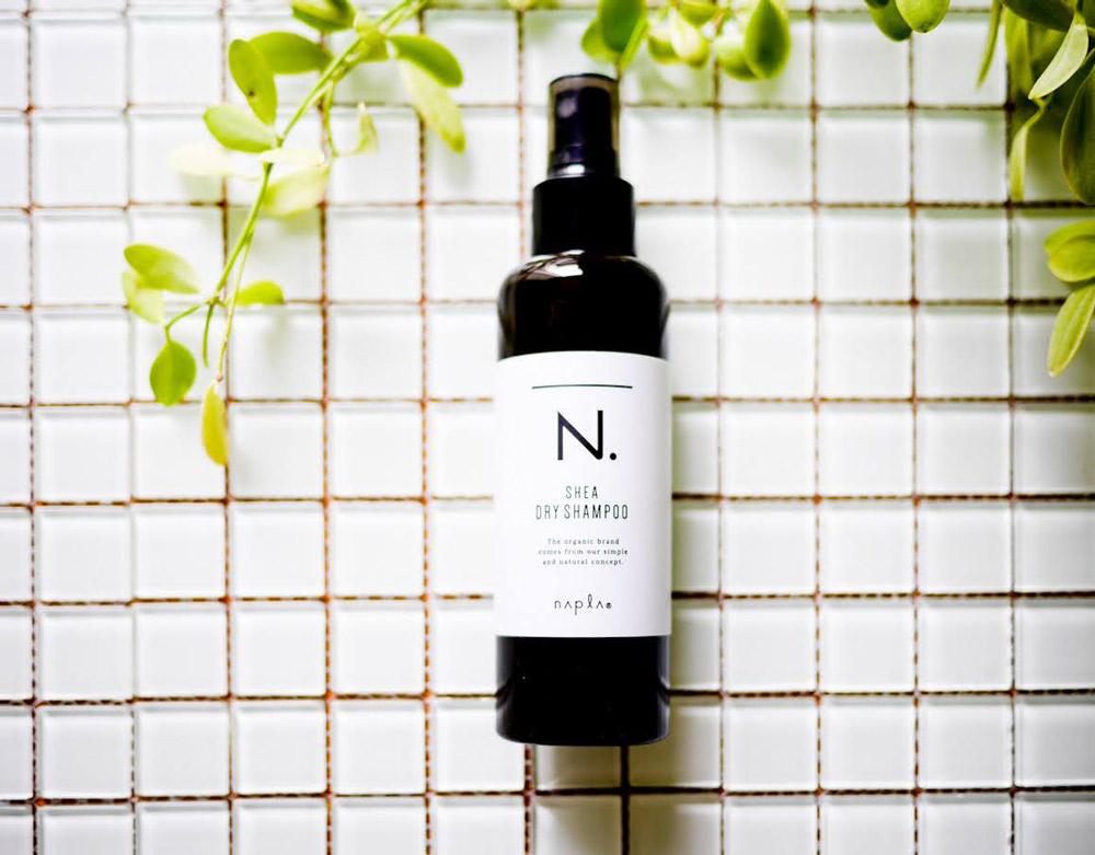 植物由来成分100%!レモングラス&ミントで頭皮も気分もリフレッシュ ナプラ「N. SHEAドライシャンプー」