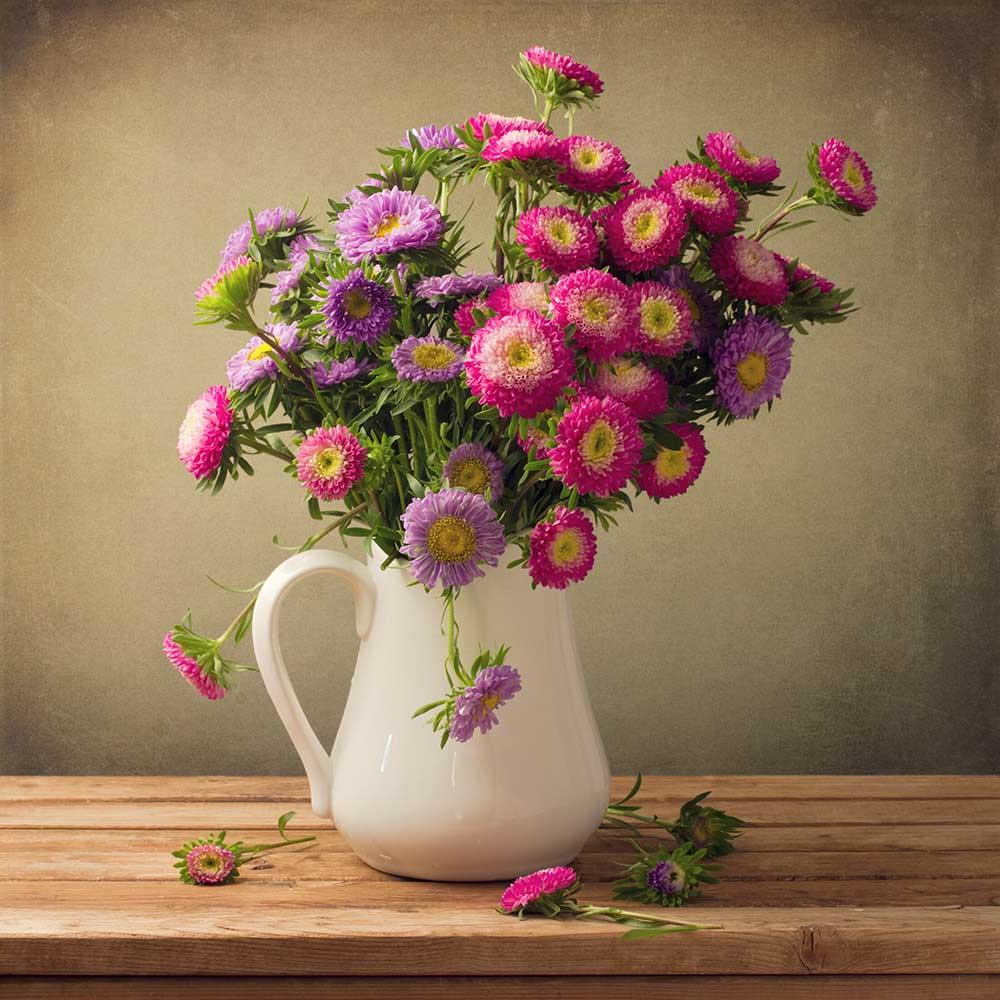 花瓶を横から撮影