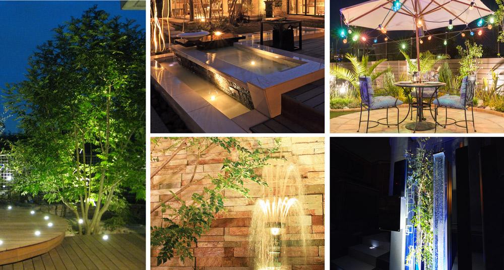 我が家の庭をリゾートに変身!夏に向けて夜のライティング計画