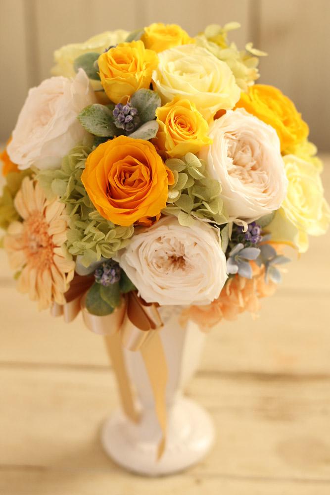花材はすべてプリザーブドフラワー