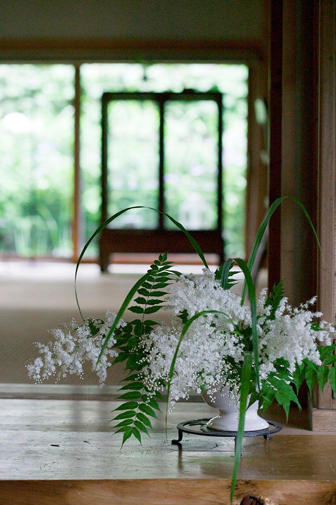 ニワナナカマドの生け花