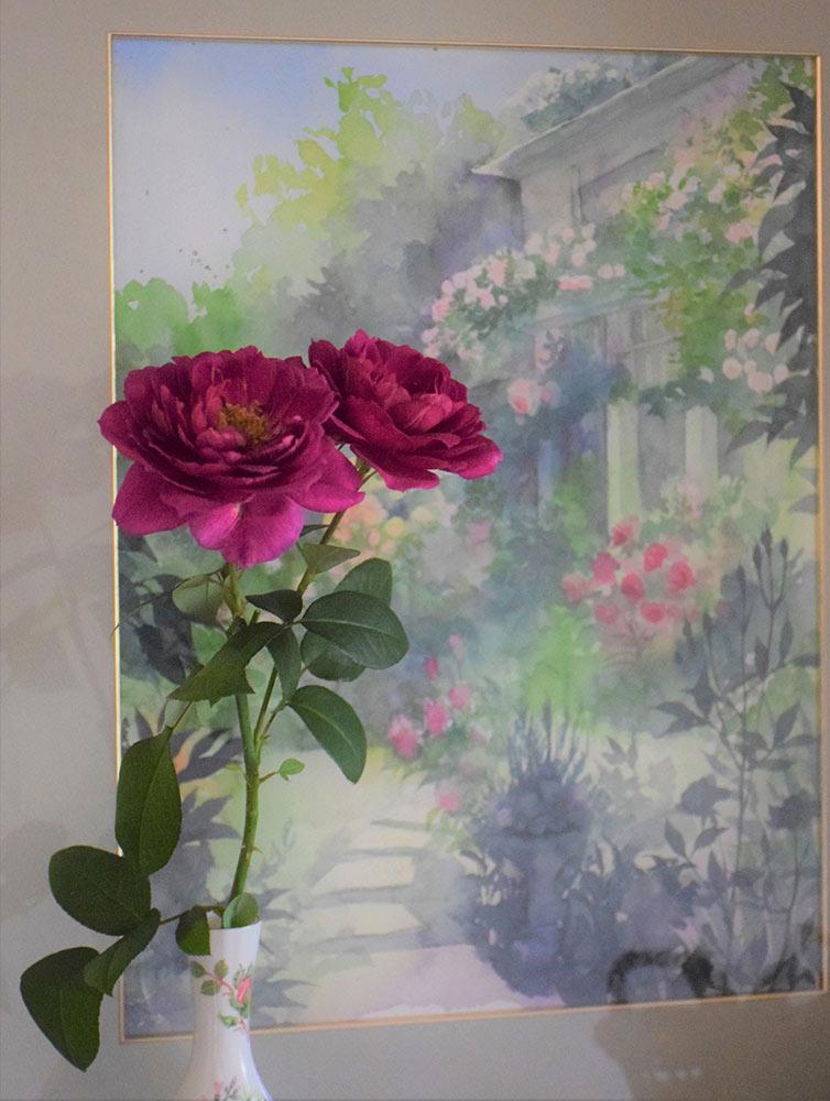バラの庭の絵