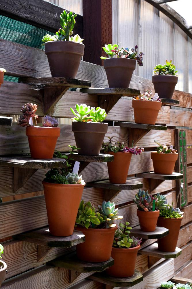 スノコの間を利用して棚を設けた例。joojoob27/Shutterstock.com