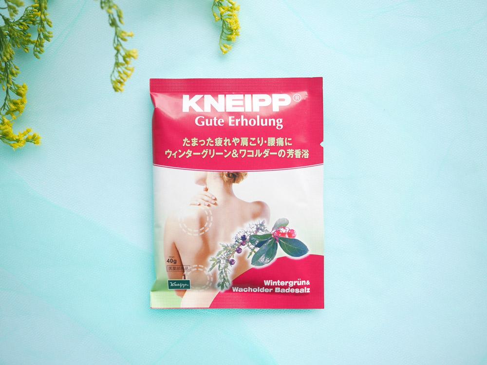 鎮痛効果に優れた2つのメディカルハーブを配合。クナイプ「グーテエアホールング バスソルト ウィンターグリーン&ワコルダーの香り」