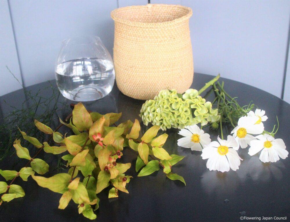 コスモスのアレンジ花材