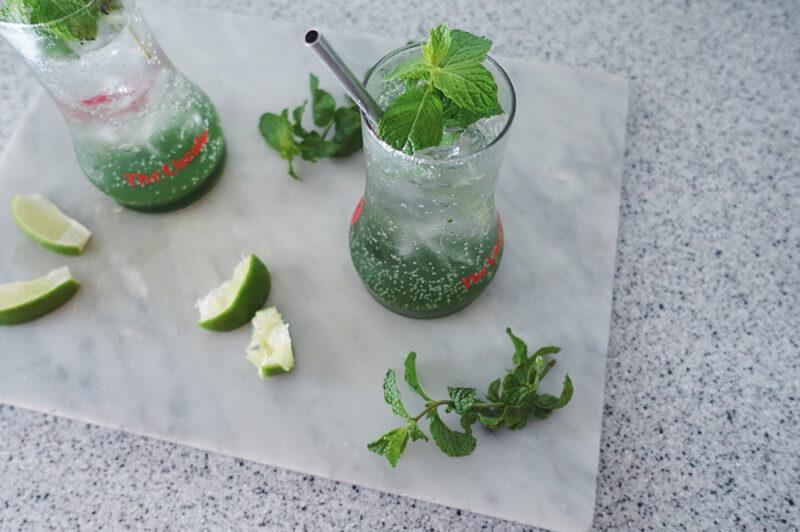 ミント&バジルのグリーンシロップの作り方