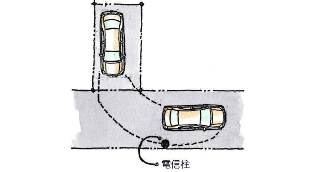 道路の障害物に気をつける