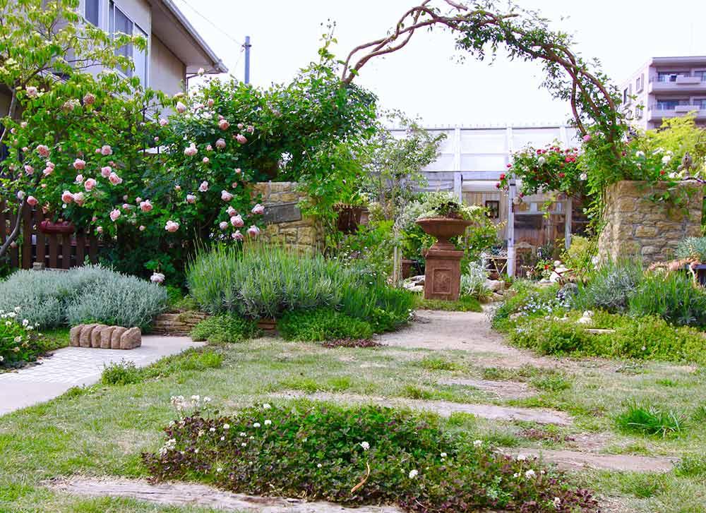 モルタルデコの庭
