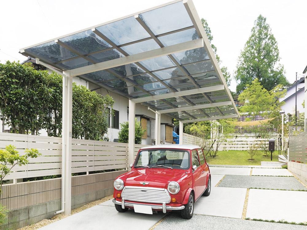 ファサードをステキに見せる駐車場とサイクルポートのデザインVol.2