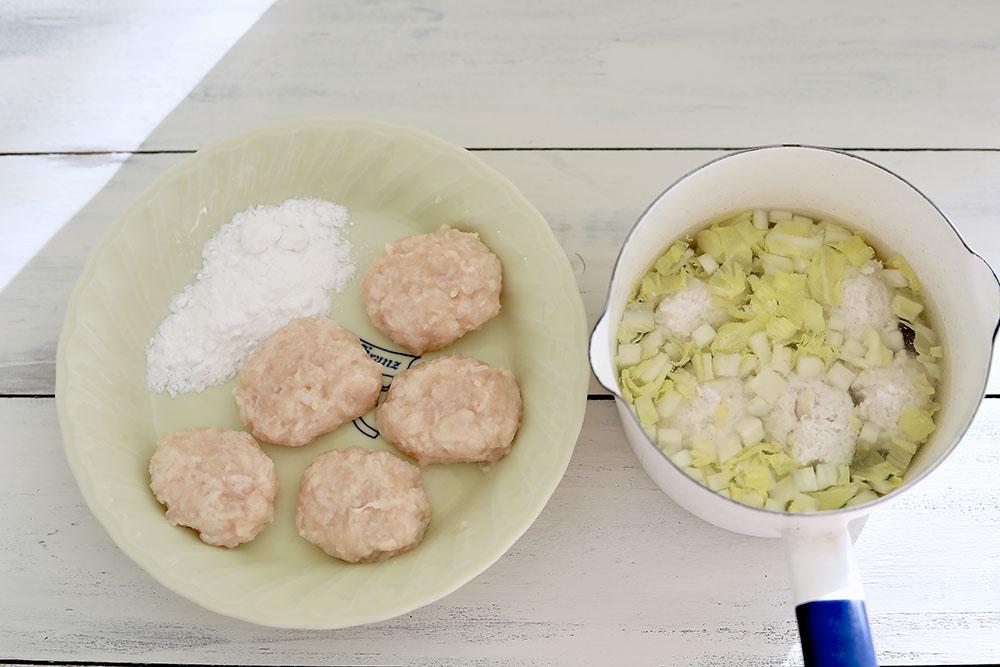 犬用レンコンチキンナゲットとレンコン団子汁の作り方