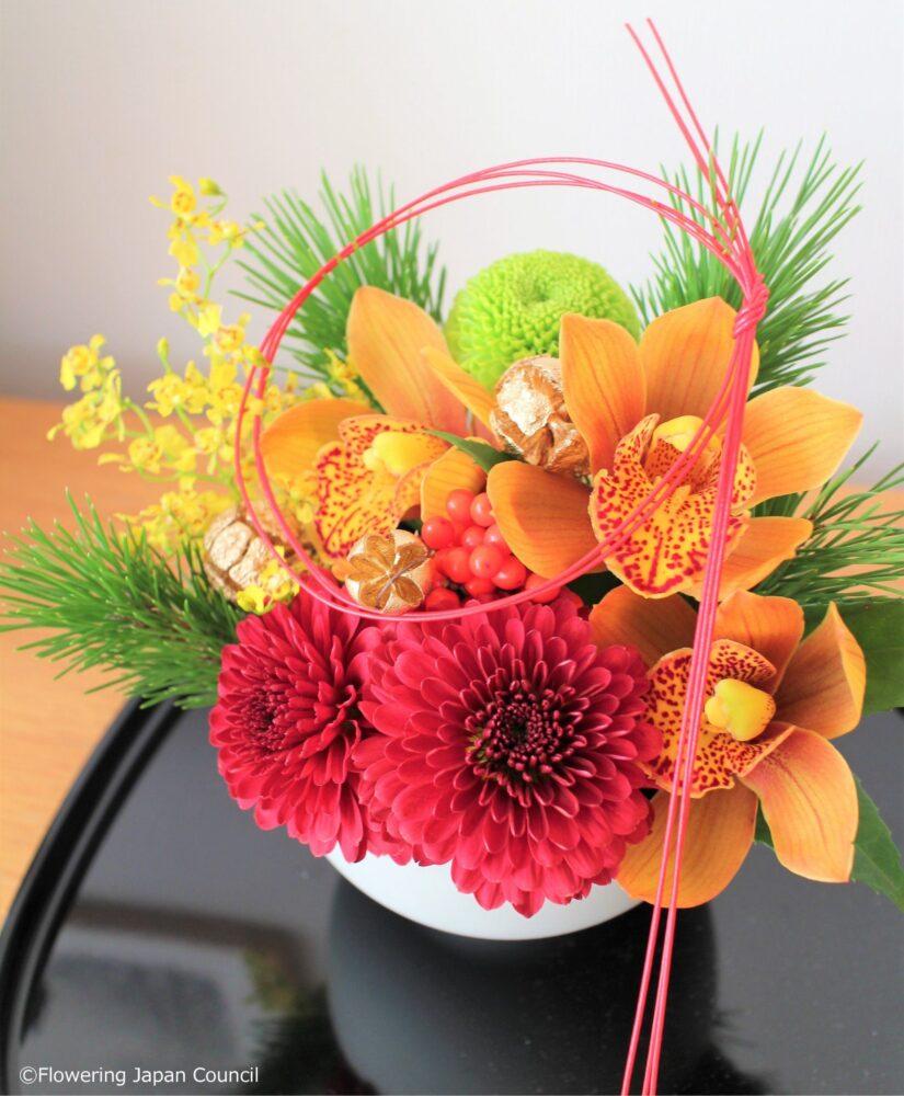 花手毬風の迎春花