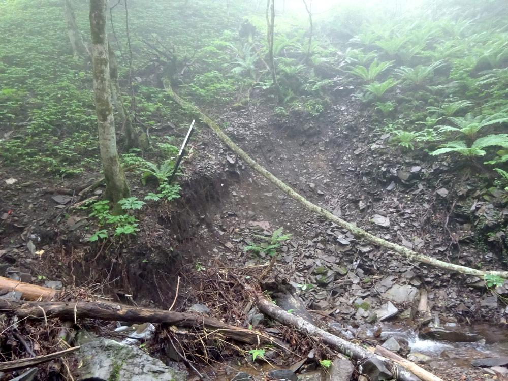 台風19号による土砂崩れ