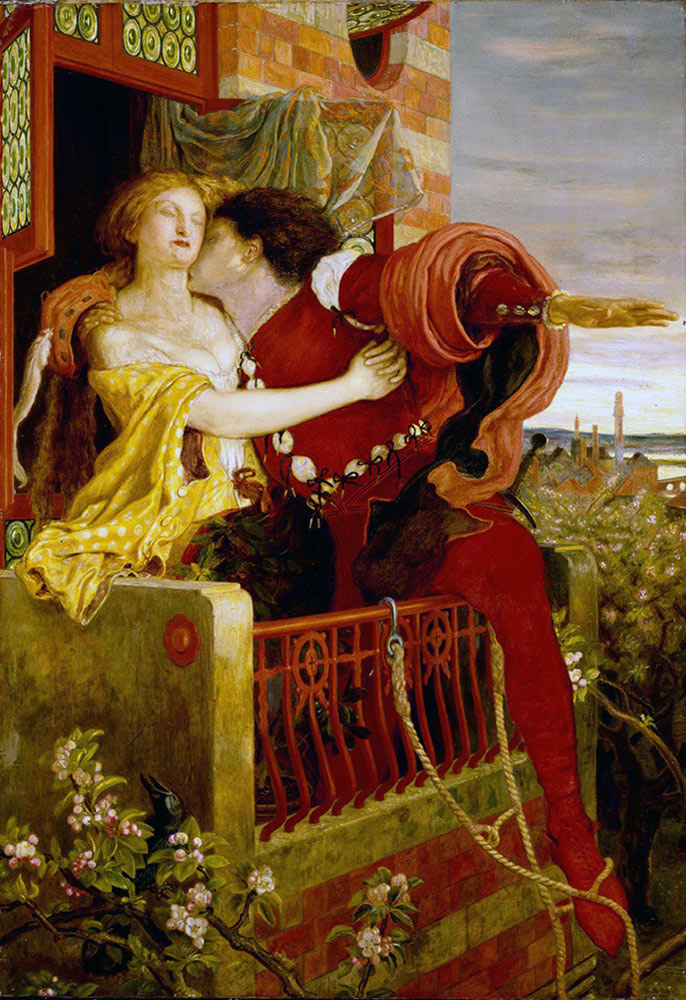 キャプレット邸バルコニーのロミオとジュリエット
