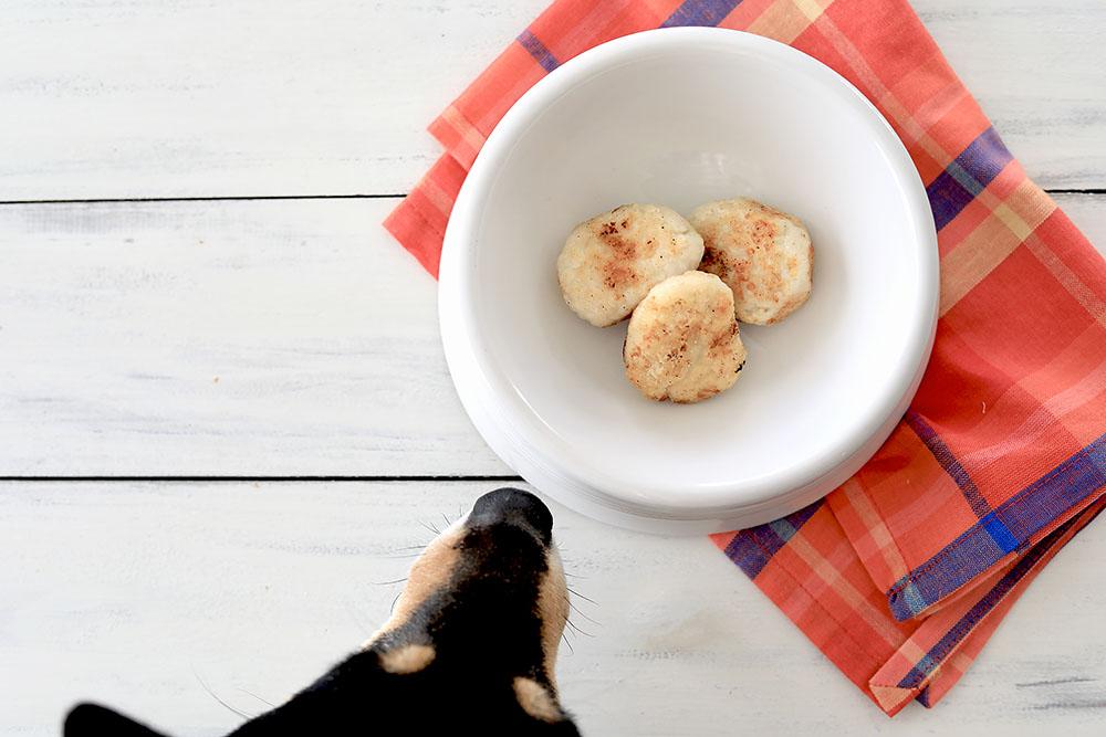 犬用チキンナゲット&だんご汁の作り方