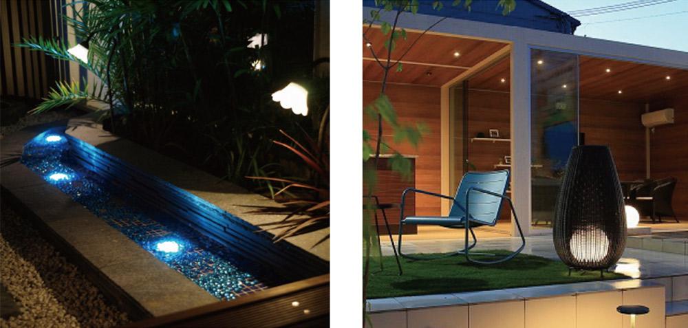 海をイメージした青色の光     ラタンライト使用 イメージ