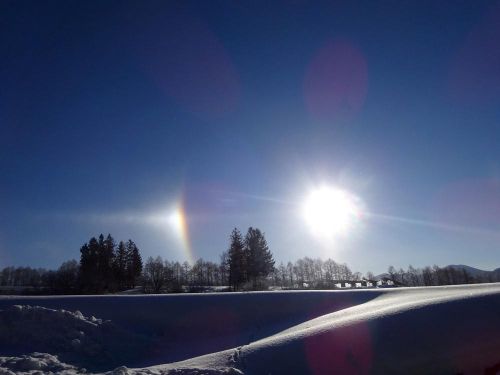 幻日と呼ばれる珍しい大気光学現象