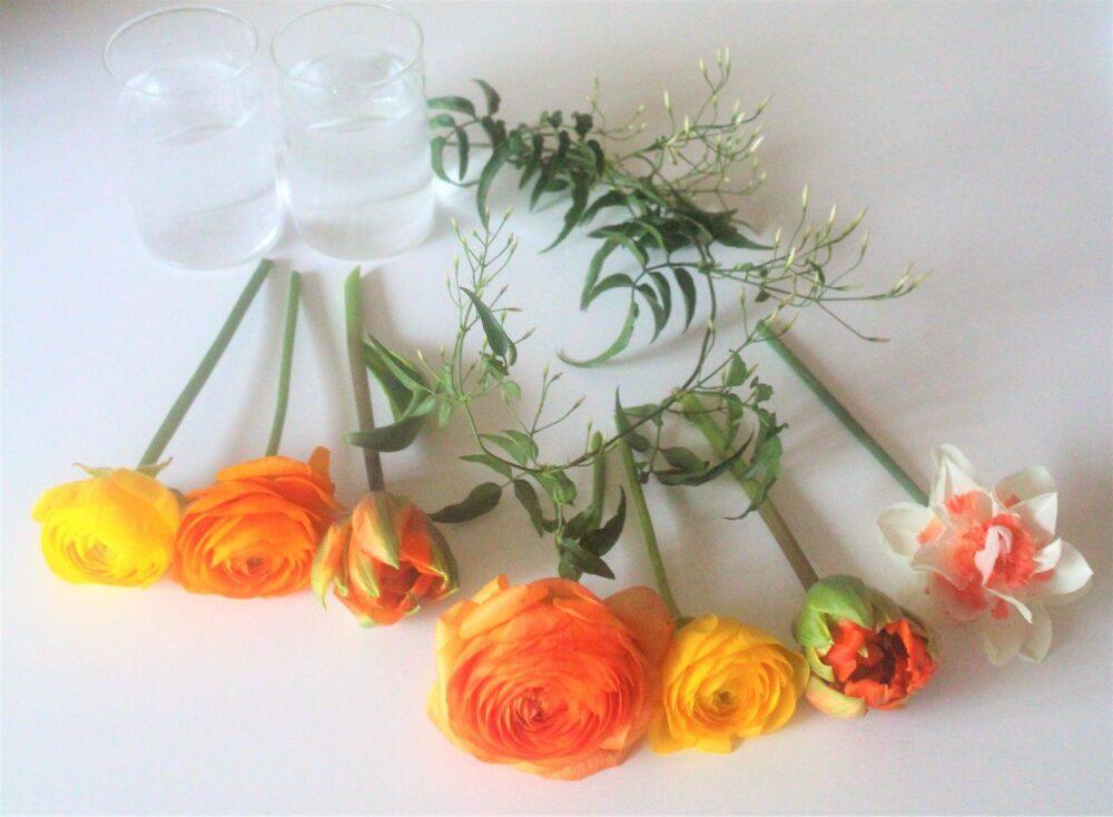 ラナンキュラスのアレンジ花材
