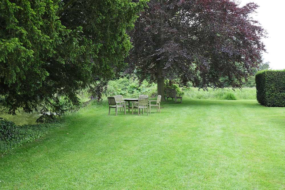 ブロートン城の芝生