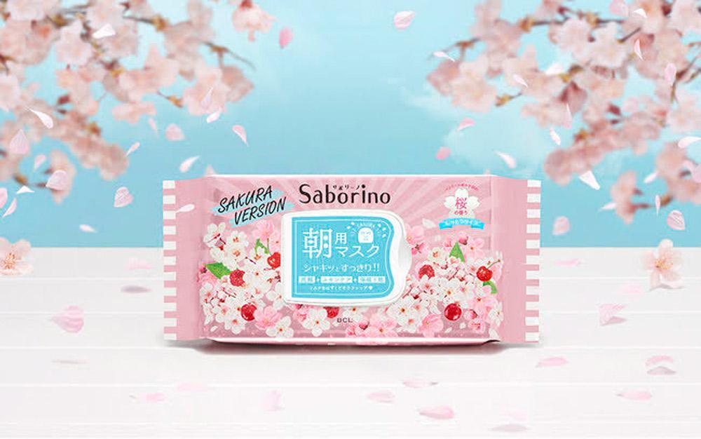 国産のソメイヨシノ葉エキスを配合!洗顔+スキンケア+保湿下地が60秒で完了する時短フェイスマスク サボリーノ「目ざまシート SA 20」