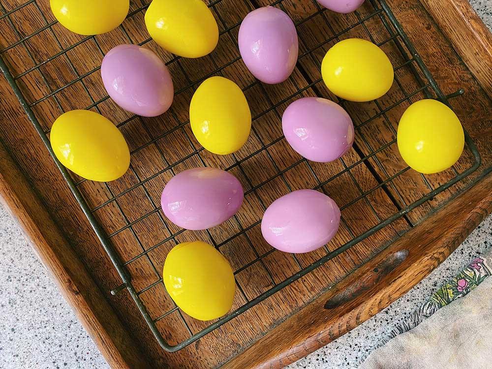 卵の色付け