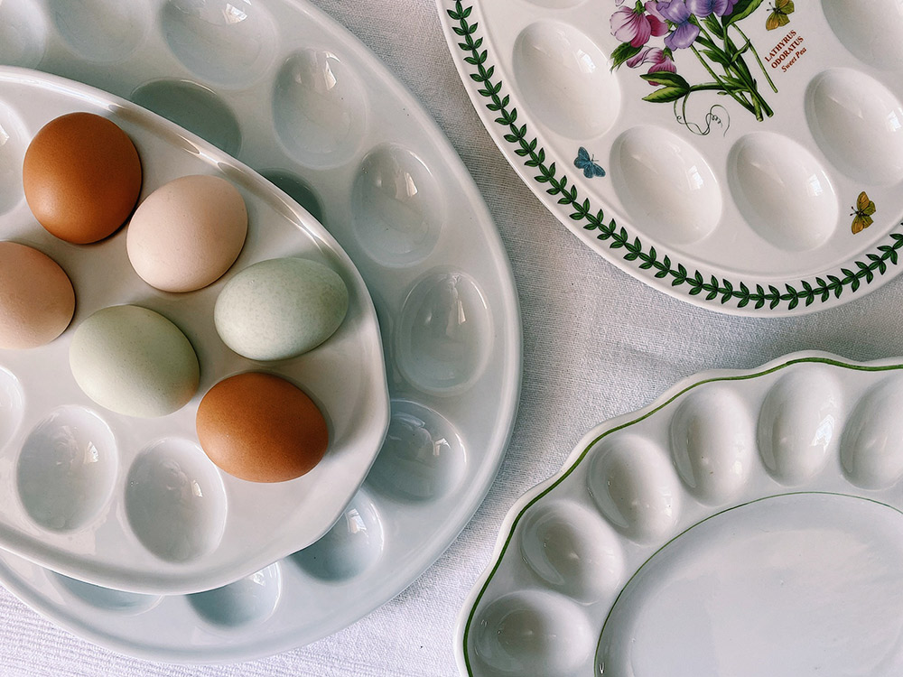 デビルドエッグ用の皿