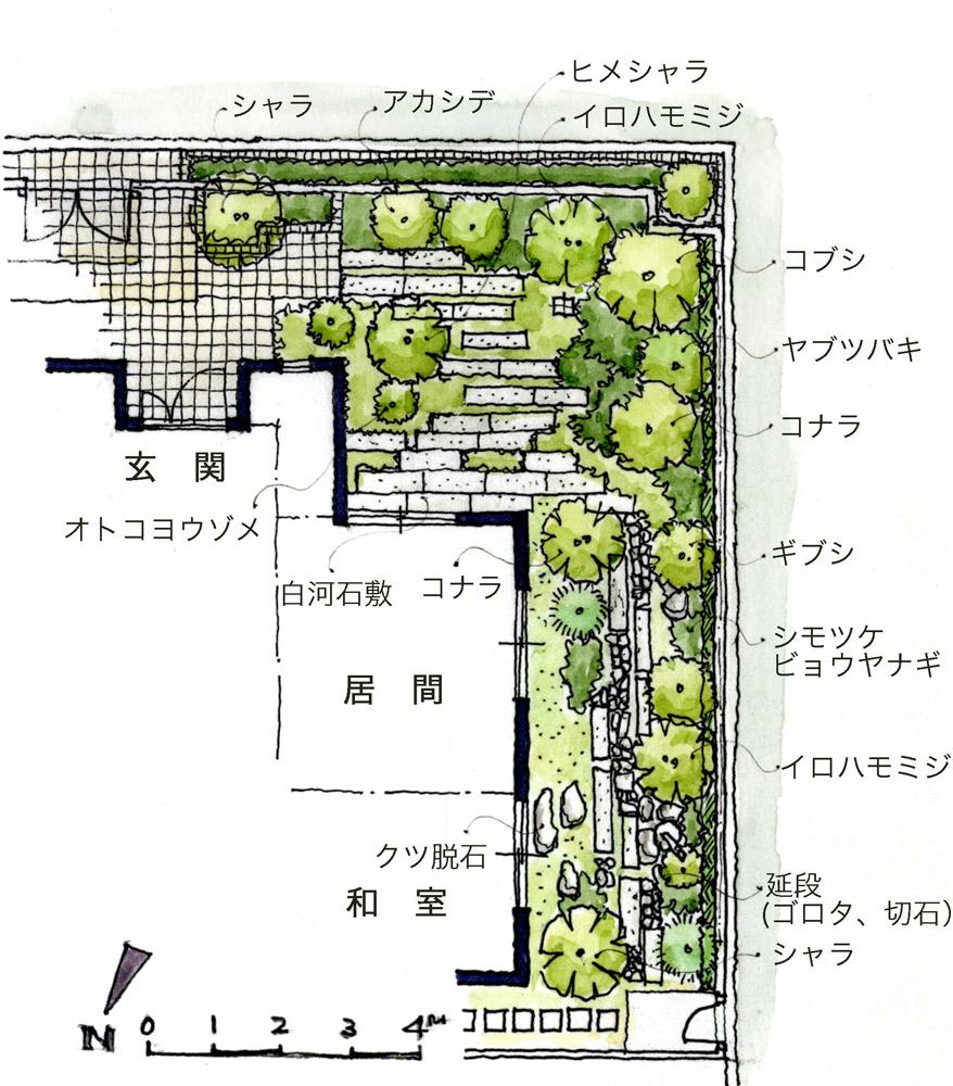 雑木の庭プラン