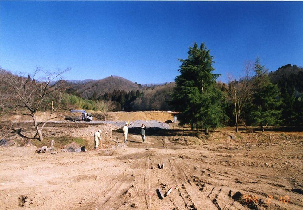 開拓当時の元採石場