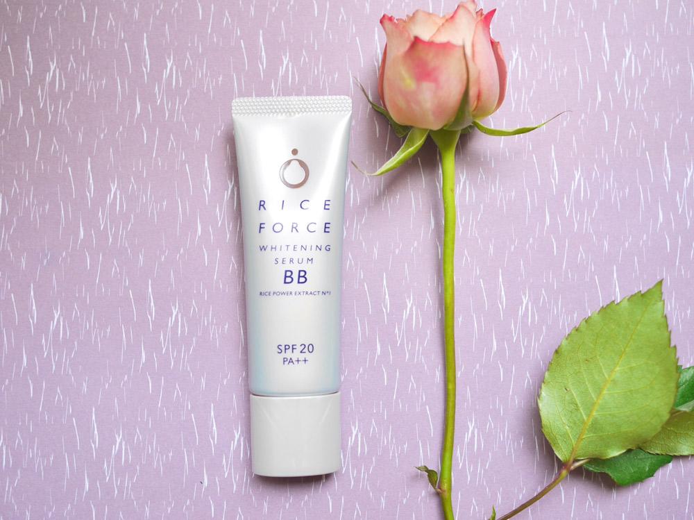ライスパワー(R) No.1ほか美容成分70%配合!美白と保湿をしながら品のある極上ツヤ肌に アイム『ライスフォース ホワイトニングセラムBB(薬用美白ファンデーション)』<医薬部外品>SPF20、PA++
