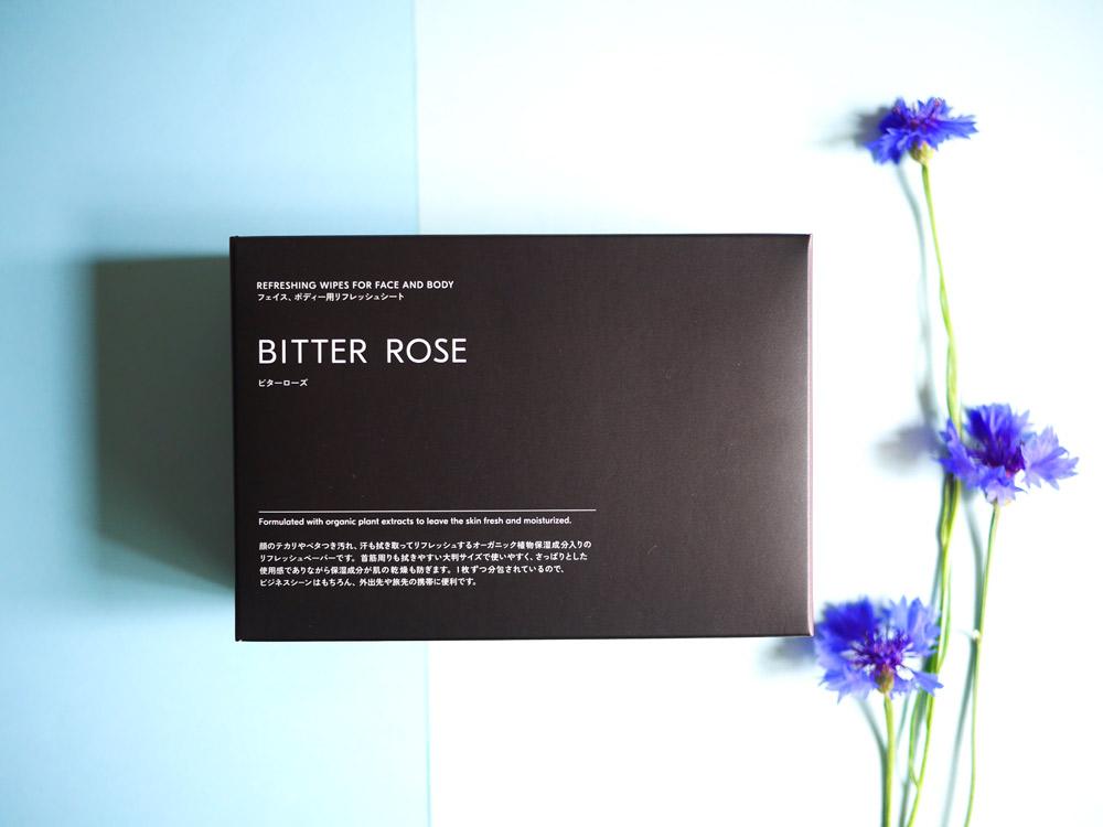 香水代わりとしても使える洗練された香り DEXT「DEXT フェイス&ボディー用リフレッシュシート BITTER ROSE」