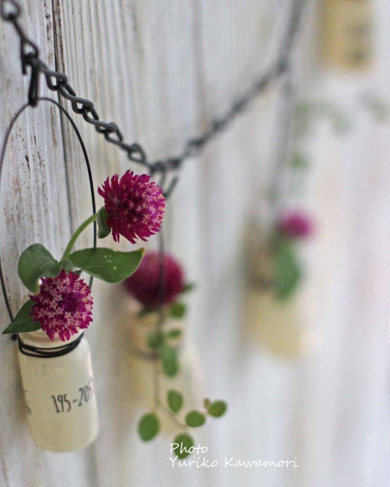 手作り花の壁飾り