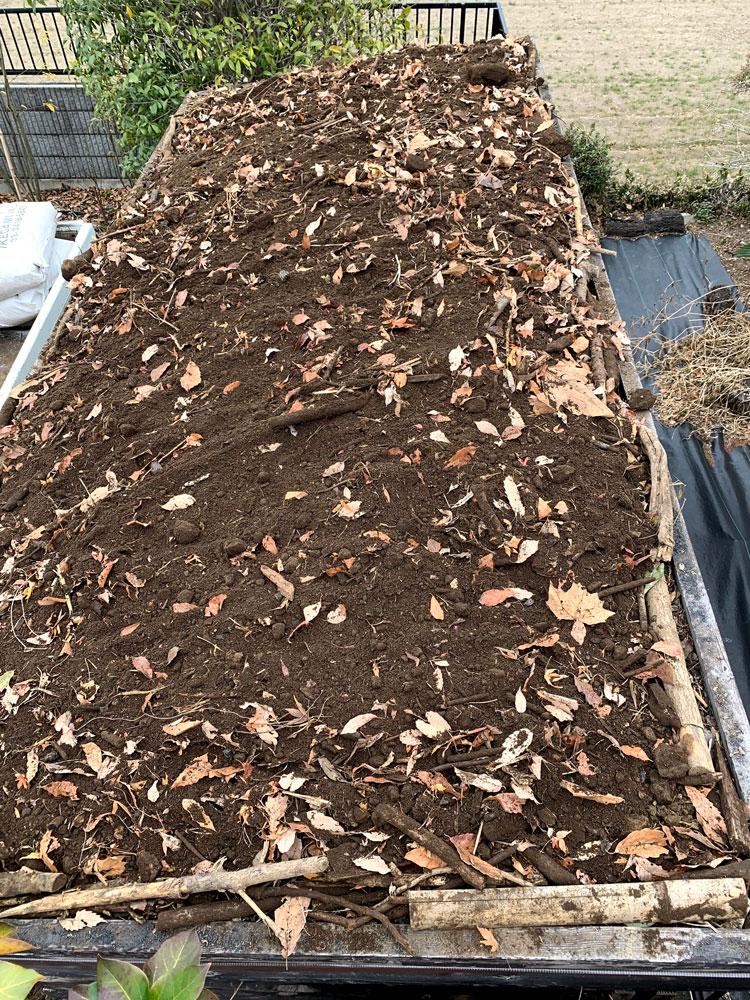 最後に土をふんわり盛ります。